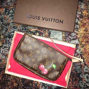 Louis Vuitton pochette accessories cerise